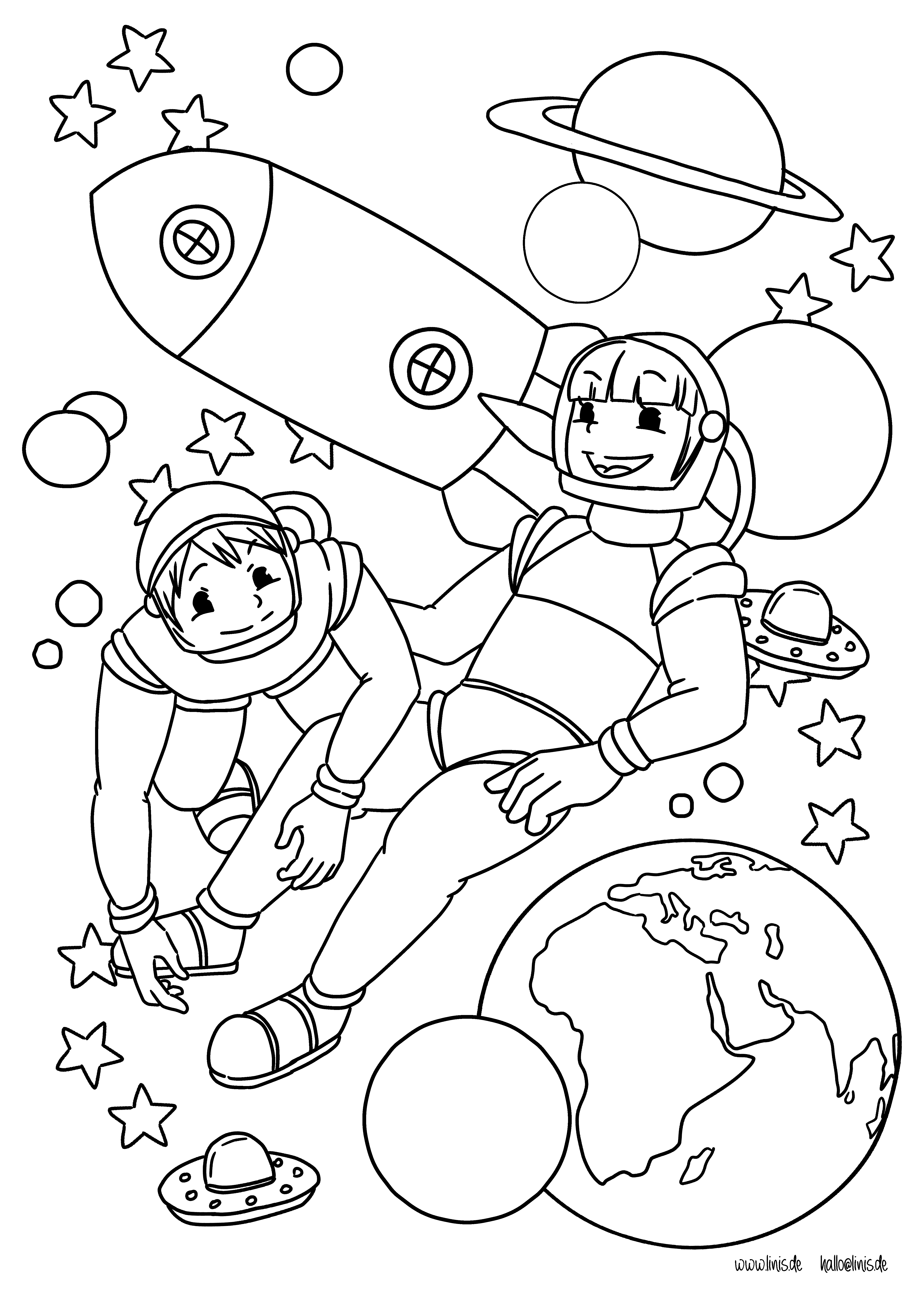 Berühmt Ausmalbilder Astronaut Zeitgenössisch - Malvorlagen Von ...